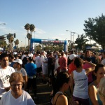 Starting gate before the race.  Forgot how many walkers are in this race.  Grrr